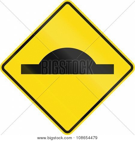 New Zealand Road Sign Pw-39 - Bump In Road