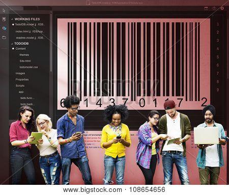 Bar Code Encryption Interface Coding Concept
