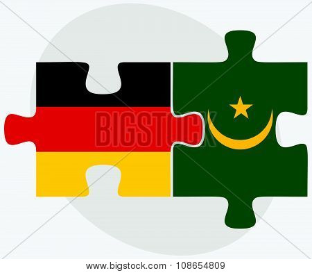 Germany And Mauritania Flags