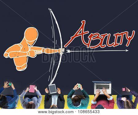 Ability Talent Strength Archery Aim Concept