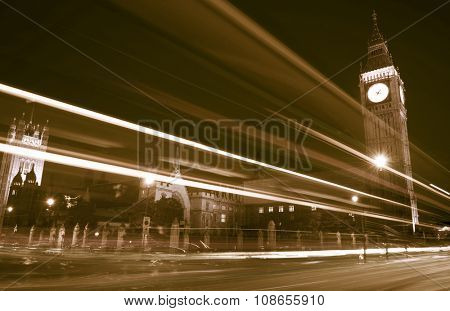London Lights Clock Tower Famous Place Concept