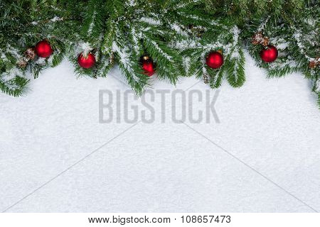 Christmas Objects Covered With Fresh Snow