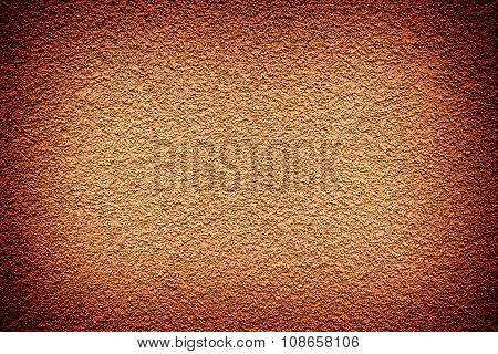 Brown Revetment Wall Putty High Contrasted With Vignetting Effect Macro Texture Background
