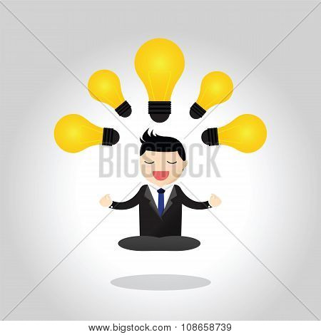 Meditative Businessman Concept