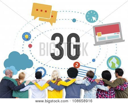 3G Connection Wireless Telecommunications Mobility Concept