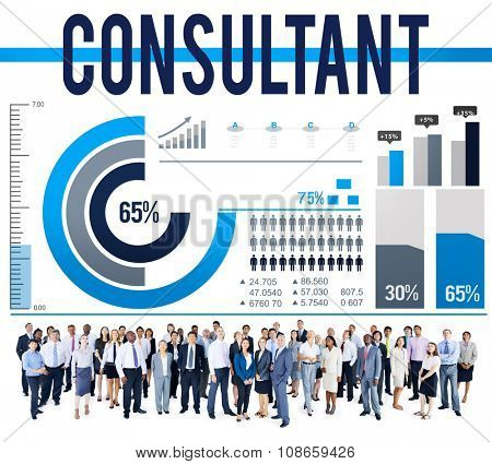 Consultant Adviser Information Performance Service Concept