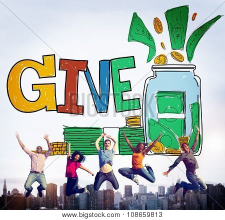Give Help Donation Charity Volunteer Concept