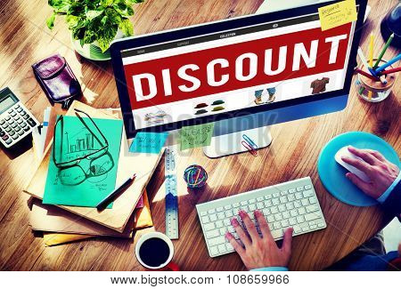 Discount Price Promotion Special Marketing Cheap Concept