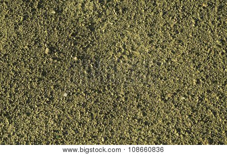 Yellow Earth And Gravel Macro Texture Background