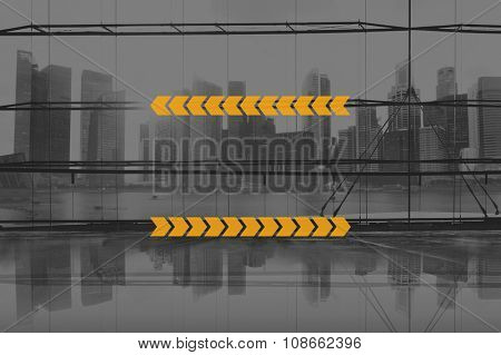 Copy Space Line Stripe Arrow Label Concept