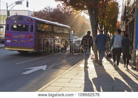 Dowtown Asheville Street Scene