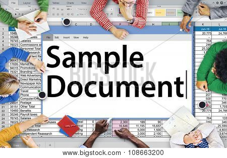 Spreadsheet Document Information Financial Start up Concept