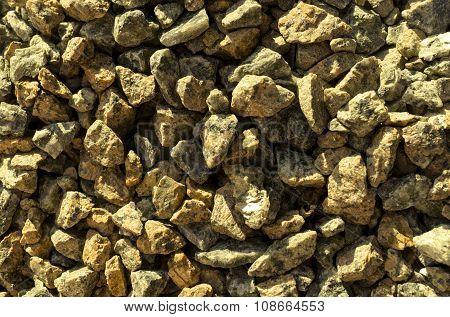 Yellow Stones Gravel Texture Macro Background