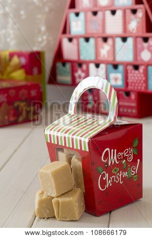 Christmas Caramel Fudge Gift