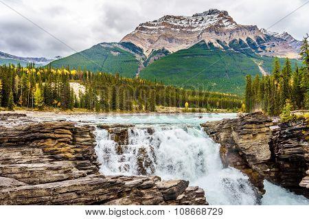 Athabasca Falls and Mount Kerkeslin