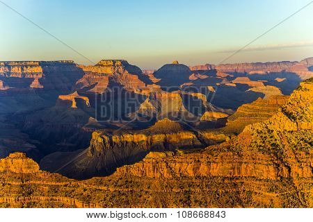 Grand Canyon  In Sunset Light