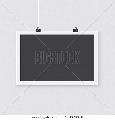 Photorealistic Vector Poster Template. Realistic Horisontal Post