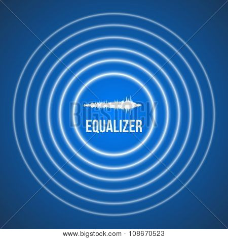 Vector Pulse Music Equalizer Background. Audio Wave Equalizer Te