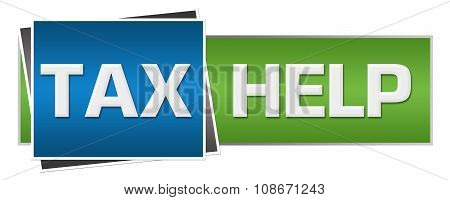 Tax Help Green Blue Horizontal
