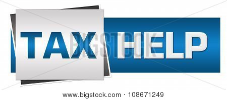 Tax Help Blue Grey Horizontal