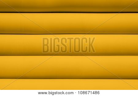 Texture Of Yellow Inflated Water Mattress