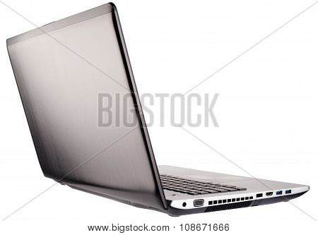 Open Laptop Rear Isometric View