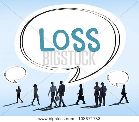 Loss Deduct Recession Debt Finance Bankruptcy Cocept
