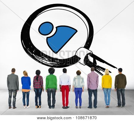 Job Search Human Resources Employees Searching Concept