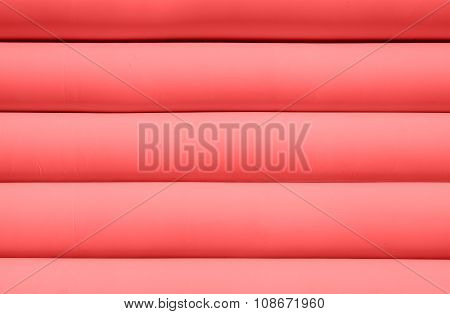 Texture Of Red Inflated Water Mattress