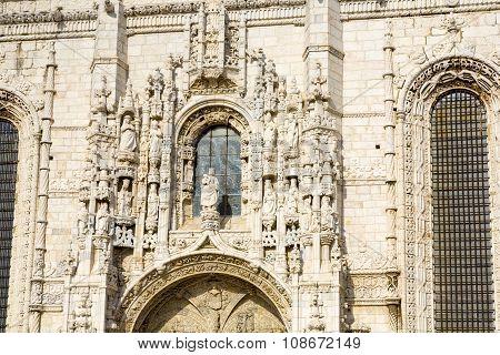 LISBON, PORTUGAL - JUNE 4, 2009: beautiful Jeronimos Monastery in Lisbon Belem