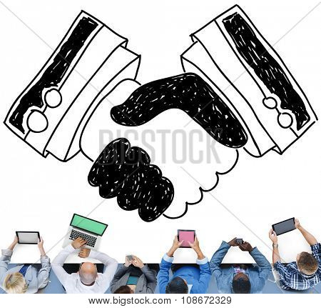 Handshake Agreement Partnership Deal Trust Welcome Concept