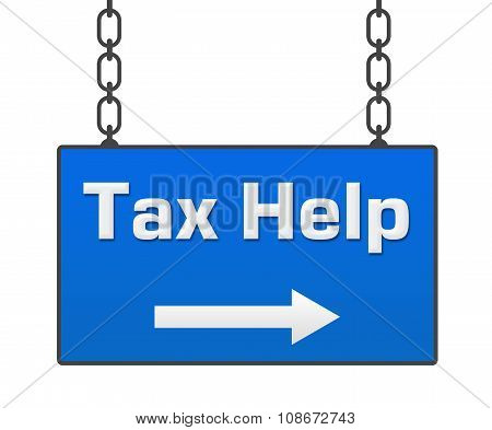 Tax Help Hanging Signboard