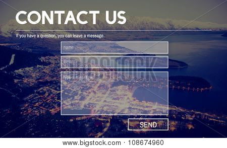 Contact Us Information Info Layout Concept