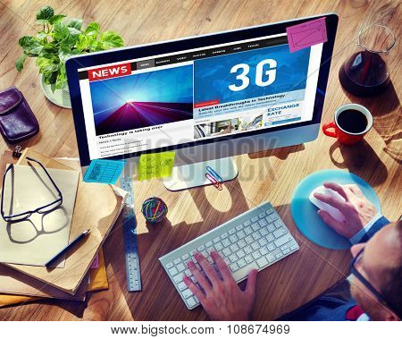 3G Technology Communication Networking Internet Online Concept