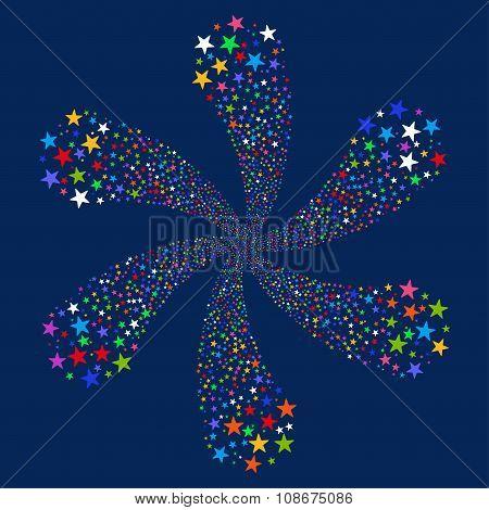 Salute Star Flower