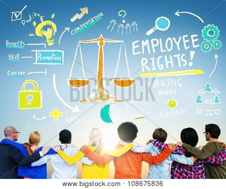 Employee Rights Employment Equality People Friendship Huddle Concept