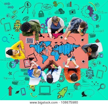 Global International World Community Meeting Concept