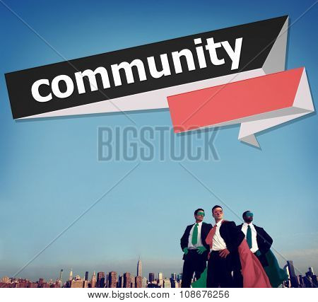 Community Citizen Connection Group Network Concept