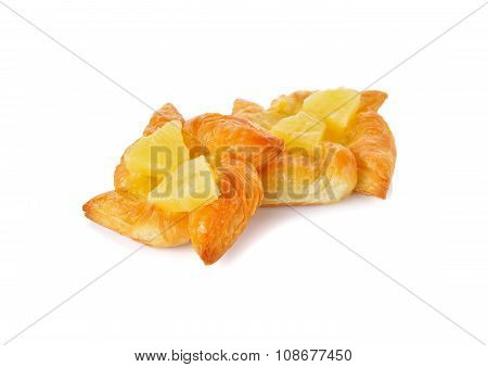 Tiny Pie Pineapple On White Background