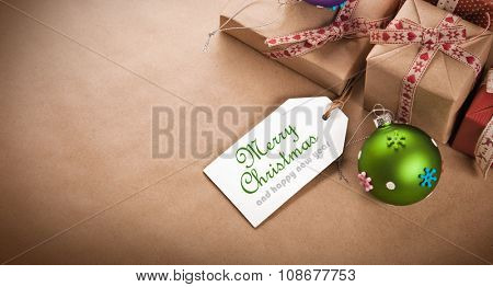 Christmas gifts and decorations from recycled paper
