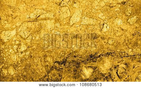 Texture Of Gold Marble Slab Macro
