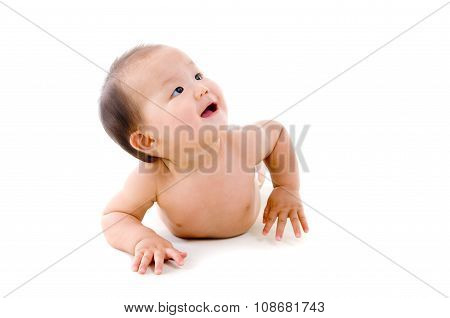 Asian Crawling Baby