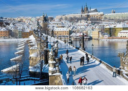 Prague Castle And Charles Bridge, Prague (unesco), Czech Republic