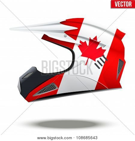 Canada Flag on Motorcycle Helmets
