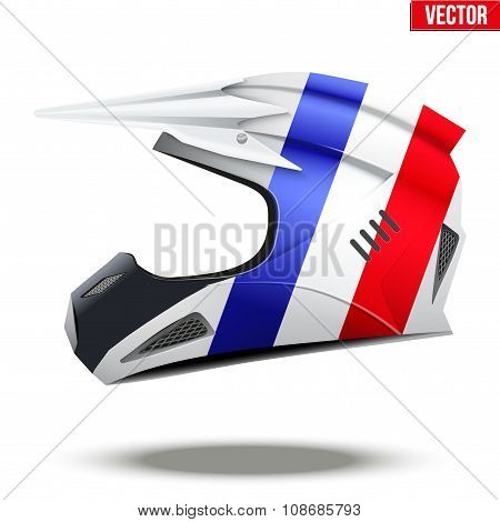 France Flag on Motorcycle Helmets