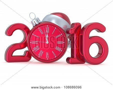 New Year's Eve 2016 Christmas Ball Alarm Clock Decoration