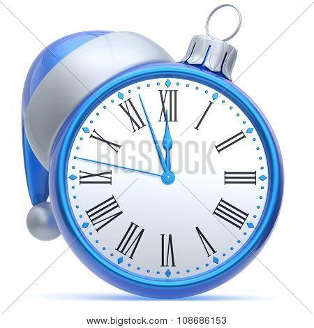 New Year's Eve Alarm Clock Santa Hat Christmas Ball Bauble