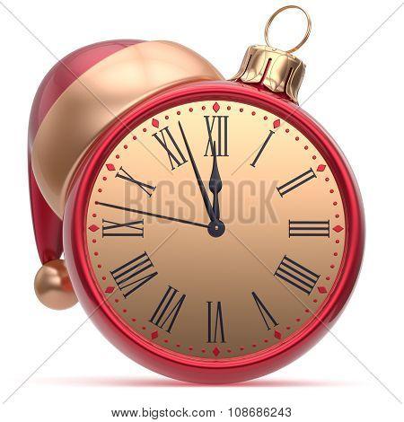New Year's Eve Alarm Clock Santa Hat Christmas Ball Decor