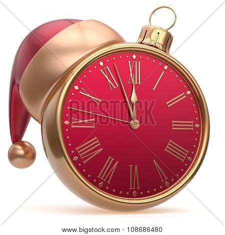 New Year's Eve Alarm Clock Bauble Christmas Ball Decoration