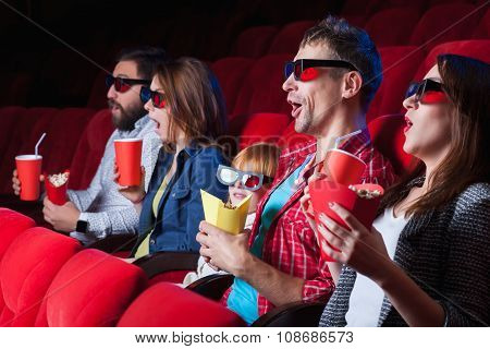 The spectators in the cinema